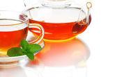 čaj na bílém pozadí — Stock fotografie