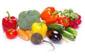 Grönsaker på vit — Stockfoto