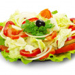 Salad on a white — Stock Photo