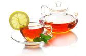 Tea on white — Stock Photo