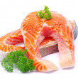 Raw salmon — Stock Photo #5351937