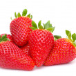 Stock Photo: Strawberries on white