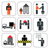 Set of construction icons — Stock Vector