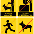 Royalty-Free Stock Vector Image: Forbidden signs
