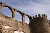 Wall of castle in Moura — 图库照片