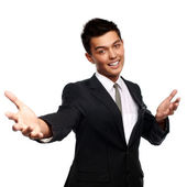 A good looking young asian businessman — Stock Photo
