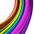 Rainbow colored cables isolated over white background — Stockfoto