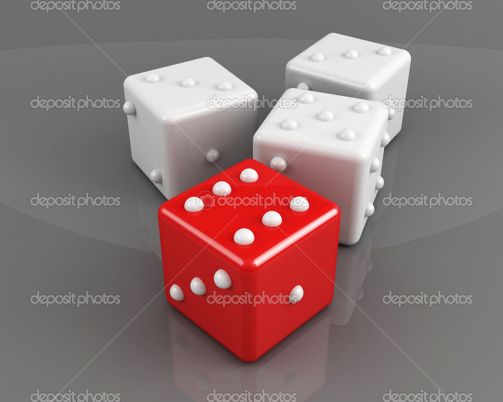 Winning dice concept  Stock Photo #4787487
