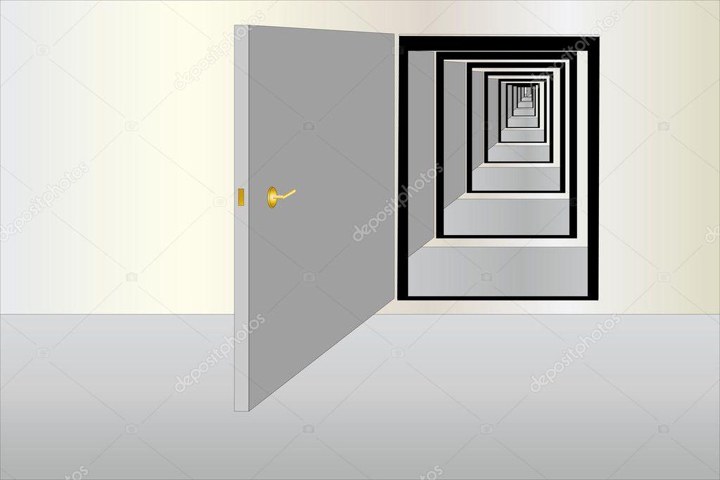 Open Door Icon Vector Row of Open Doors Vector