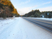Winter road — Stockfoto