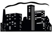 Vector illustration of city — Stock Vector
