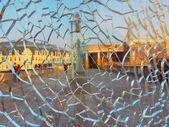 Crashed window — Stock Photo