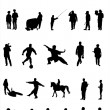 Vector silhouettes of different under the white background — Stock Vector #5368633