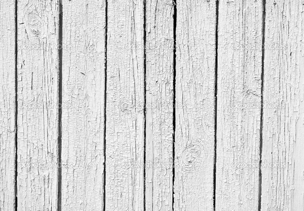 The old Weathered white wooden textured background  Stock Photo #4514476