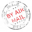 By air mail grunge stamp vector illustration — Stock Photo