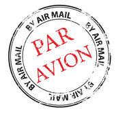 Par avion grunge stamp vector — Stock Vector
