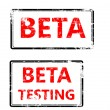 Stamp that shows the term beta testing — Stock Vector