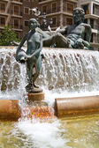 Turia Fountain in the Plaza de la Virgen — Stock Photo
