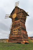 Model wooden windmill — Stock Photo