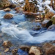 Mountain river in winter — Stock Photo