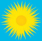 Sol en el cielo azul, una trama de ilustración. — Foto de Stock