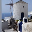 Windmill in the Town of Thira — Stock Photo