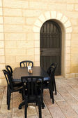 Empty Street Cafe in Jerusalem — Stock Photo