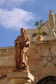 Statues of Saint Jerome and Catherine — Stock Photo
