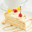Cream cake - Stock Photo