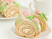 Cream roll — Stock Photo