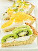 Frukt tart skivor — Stockfoto