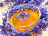 Cornflower tea — Stock Photo