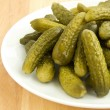 Canned gherkins — Stock Photo