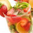 Strawberry-lime mojito — Stock Photo