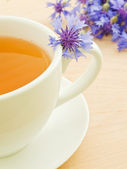 Cornflower tea — Stock Photo