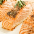 Baked salmon - Stock Photo