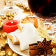 Royalty-Free Stock Photo: Mulled wine and cookies