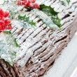 Yule log — Stock Photo