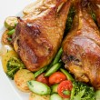 Foto Stock: Roasted turkey