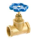 Water valve isolated on white background — Stockfoto