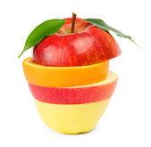 Fruit Mix. Isolated on white background. — Stock Photo