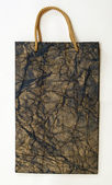 Temné zmačkaný texturou taštička — Stock fotografie