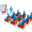 Abstract businessmexplaining progress on graph. — Stock Photo #5045414