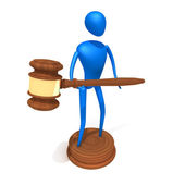 Person hold Gavel — Stock Photo