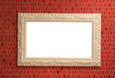 Ceramic mirror frame — Stock Photo