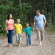Stock Photo: Family in the forest