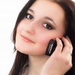 Stock Photo: Nice girl talking on the phone