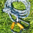 Carabiners and rope - Stock Photo