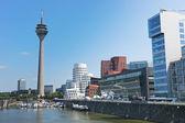 Rheinturm tower Dusseldorf — Stock Photo