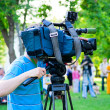 Television cameraman — Stock Photo #5361572
